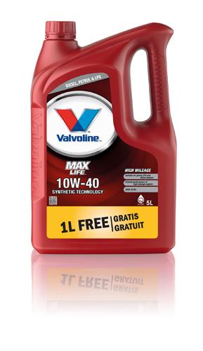 Valvoline MaxLife 10W-40, 4+1, 1LFG, 872327